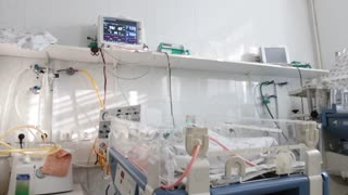 Chambers for premature babies in maternity hospital