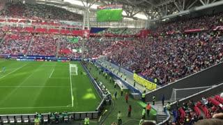 Kazan, Russia - 18 june 2017, FIFA Confederations Cup 2017 - Kazan Arena stadium - wave of soccer fans
