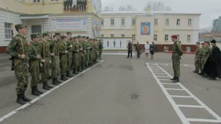 Kazan - Russia, 22 april 2014: Cadets of the Kazan Suvorov military school - instructing students