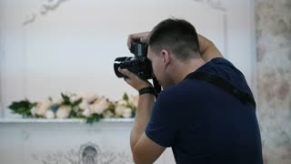 Male photographer during a fashion photo shoot
