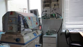 Medical monitor for premature baby chamber in maternity hospital