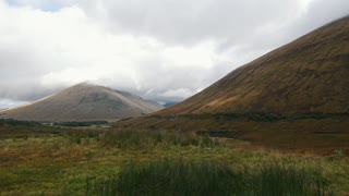 Mountain highlands in Scotland - time-lapse