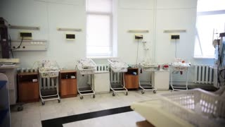 Newborn premature babies ward in the maternity hospital