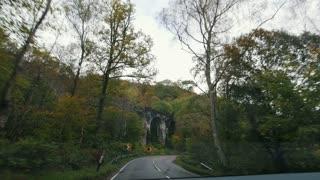 Old railway aqueduct in Scottish highland - highway in Scotland