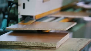 Preparation of wooden furniture parts on the factory