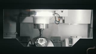 Production of 3D metal detail on the machine at the factory