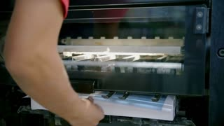 Professional printing press production line in printing house