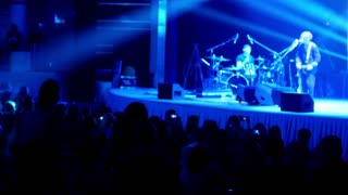 Rock concert in the night club - de-focused
