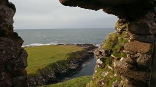 Scottish rock seascape, Isle of Skye, Scotland, UK