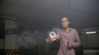Smoke ring started by a young vaper