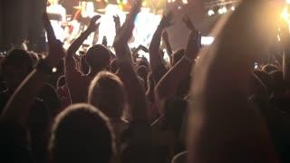 Spectators at the concert - slow-motion