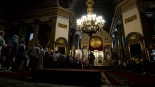 St. Petersburg, Russia, the Kazan Cathedral, The rite of anointing