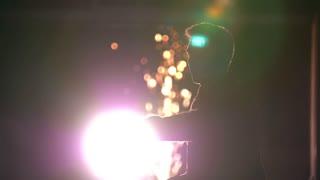Tricking sport, kick of hand, night light bulbs