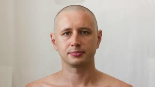 Young man - growing hair on head and growing beard