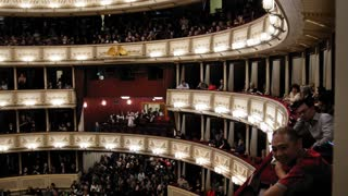 Vienna, AUSTRIA - 13 oct 2016: Opera - Giacomo Puccinis Tosca. Spectators going on the performance