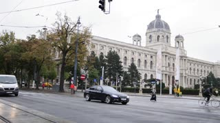 VIENNA, AUSTRIA - October 12,2016. View of city's life - view of Kunsthistorisches Museum Wien