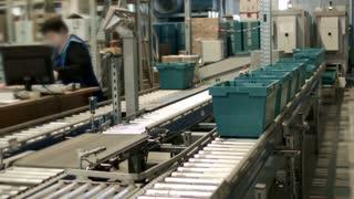 Work on the conveyor warehouse pharmacy