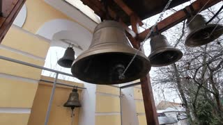 Ancient church bells in the belfry