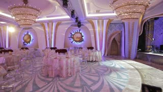 Wedding banquet hall.Beautiful room for ceremonies and weddings