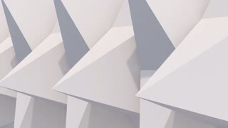 3d rendered pyramids rotating