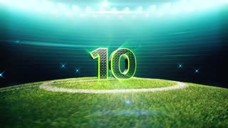 Soccer Countdown 10 to 1 in the Single Combined File. Including Outro.
