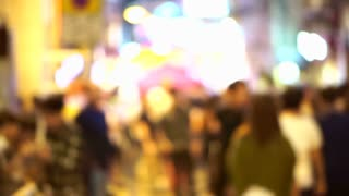 Abstract  popular Party Area in the city. Blur shot of Hong Kong modern night life light, Lan Kwai Fong