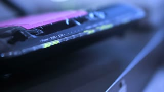 Abstract technology Video of Internet router and wifi blinking footage 1920x1080 resolution