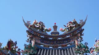 Asian Dragon on a roof in Taiwan Chinese Tao temple