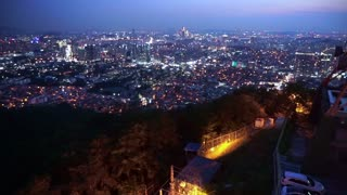 Beautiful night view of Seoul, Korea's capital city from Namsan mountain