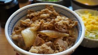 Beef on rice, tuna, sashimi, raw egg on top, oden, soup, fish ball, dessert, takoyaki, shrimp tempura, udon and chicken on screw