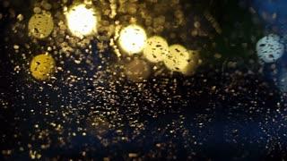 blur light in rainy day