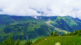 Border of Austria Switzerland alps mountain landscape view