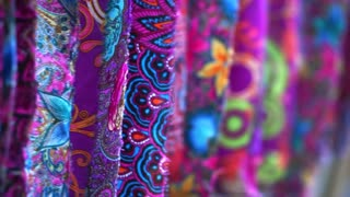 Colorful Asian style cloth fabric hanging