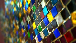 colourful glass mosaic abstract shiny vintage background