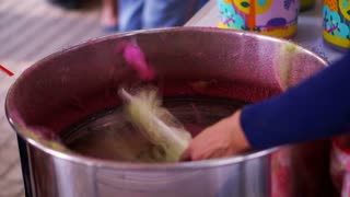 Cotton candy making
