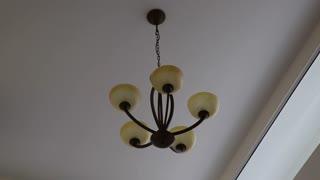 Dim light chandelier