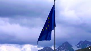 EU flag with alph background