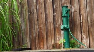 European  classic green water pump