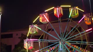 Ferris Wheel Carnival Ride at Night