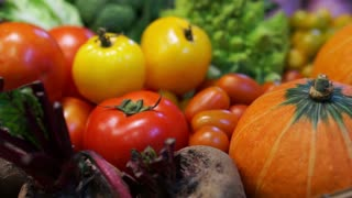 Fresh Vegetables, five colourful vitamin and healthy food