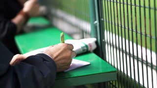 Horse or dog racing gambling hand check points and radio active. Abstract gamble