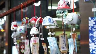 Japanese wind chime symbol of Summer season. Good souvenir