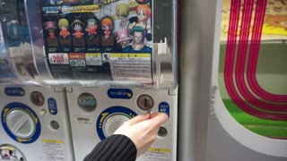 OSAKA, JAPAN - MARCH 2015: Toy vending machine in Japan, capsule toy