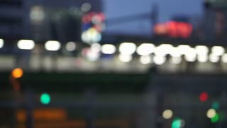 Royalty free footage of Japanese Akihabara train station blur abstract scene