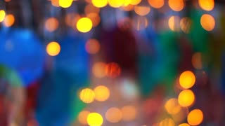 Summer holiday party light abstract blur background