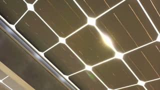 Sun shine through solar cell roof