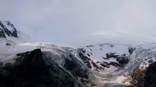 Valley glacier of the Monte Rosa Massif