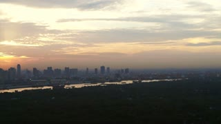 Video of Bangkok, Thailand capital city of South East Asia view from top at sunrise skyline over the main river curve