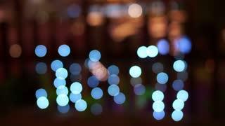 Video of Holiday seasons night city light defocused with nice bokeh background