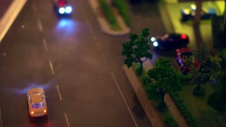 Video of Urban life model, traffic and life in in the city. Car and condominium